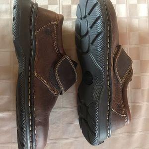 NEW Born Leather Slip On Adjustable leather brown